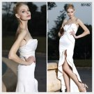 Elysemod Trumpet / Mermaid Sweetheart Asymetrical Sleeveless Satin Evening Dress 80182