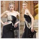 Elysemod Sheath / Column Strapless Floor-length Sleeveless Chiffon Evening Dress/Dresses 80188