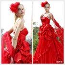 Elysemod Ball Gown Spaghetti Straps Court Trains Sleeveless Satin Spaghetti Wedding Dress 80250
