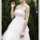 A-line Strapless Short/ Mini Sleeveless Tulle Quick Delivery Dress 80258
