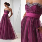 Free Shipping 2012 Best Selling Custom Made Empire Organza Formal Evening Dress