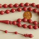 PRAYER BEADS MARBLED CHERRY GALALITH-Tesbihci