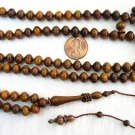 ISLAMIC PRAYER BEADS SUBHA V.RARE 99B PARADISE WOOD OUD