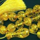 PRAYER WORRY BEADS SUBHA VERY BIG SIZE GOLD AMBER