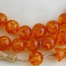 PRAYER WORRY BEADS SUBHA VERY BIG SIZE HONEY  AMBER