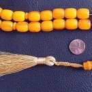 PRAYER WORRY BEADS KOMBOLOI AMBER BARREL FATURAN