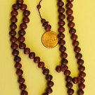 PRAYER BEADS:RED BALM TREE 99 B. -by Tesbihci