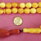 PRAYER WORRY BEADS KOMBOLOI BUTTERSCOTCH AMBER OVAL