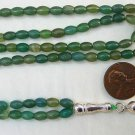 Prayer Beads Subha Tesbih 99 GREEN AGATE & STERLING