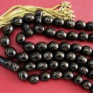 ISLAMIC PRAYER BEADS VERMEIL INLAID TURKISH OLTU (JET)