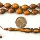 ISLAMIC PRAYER BEADS VERY RARE PARADISE WOOD -OUD-