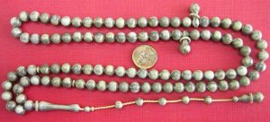 Islamic Prayer WORRY Beads MARBLED GREY GALALITH 99 RRR