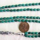 Islamic Prayer Beads 99 MALACHITE - by Tesbihci
