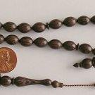 PRAYER WORRY BEADS SUBHA :DARK ZEBRANO 33 BEADS