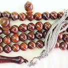 Islamic Prayer Beads 99 KUKA  FINE STERLING STUDDING