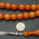 PRAYER BEADS TASBIH KOMBOLOI LIGHT FATURAN ORANGE RESIN