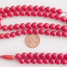 Islamic Prayer Beads 99 RED CORAL STRAND by Tesbihci