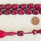 PRAYER WORRY BEADS KOMBOLOI BORDEAUX FATURAN SPECIAL
