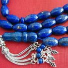 PRAYER BEADS TESBIH  KOMBOLOI OVAL LAPIS & STERLING