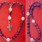 MINI ANGLICAN ROSARY AMETHYST, PINK QUARTZ & STERLING