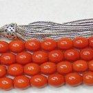 Islamic Prayer Beads 99 DARK ORANGE CORAL  by Tesbihci