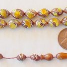 Islamic Prayer Beads KUKA STERLING STUD AND AMBER INLAY