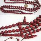 ISLAMIC PRAYER BEADS TESBIH 99 BLOODWOOD V. SPEC. OFFER