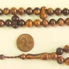 PRAYER BEADS SANDALOUS RESIN OTTOMAN CUT 99 BEADS SPECIAL PRICE -  COLLECTOR'S