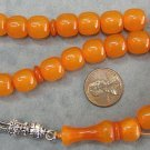 PRAYER BEADS KOMBOLOI SQUARE BARREL HONEY MISKETA a