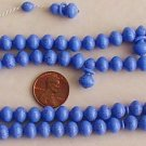 ISLAMIC PRAYER BEADS LAVENDER DOTTED GALALITH 99 BEADS - RARE COLLECTOR'S