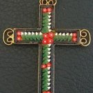 VINTAGE MICRO MOSAIC CROSS - 1960'S - No 5 NEW OLD STOCK - RARE AND PRISTINE