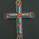 VINTAGE MICRO MOSAIC CROSS - 1960'S - No 2 NEW OLD STOCK - RARE AND PRISTINE