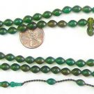 PRAYER BEADS SUBHA SPECIAL LADY 99 GREEN TURKISH CATALIN AMBER