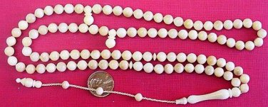 PRAYER BEADS TAGUA NUT VEGETAL SUBSTITUTE TO IVORY - NARCIL -