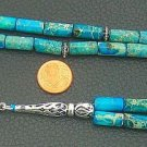 PRAYER BEADS KOMBOLOI - SNAKE SKIN JASPER & STERLING