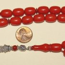 PRAYER BEADS GEBETSKETTE KOMBOLOI TESBIH VINTAGE CORAL COLOR MISKETA - RARE