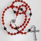 IMPORTANT CATHOLIC ROSARY GENUINE COGNAC BALTIC  AMBER & STERLING