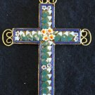 VINTAGE MICRO MOSAIC CROSS - 1960'S - No 7 NEW OLD STOCK - RARE AND PRISTINE