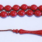 PRAYER WORRY BEADS TESBIH SPECKLED CHERRY GALALITH - RARE - COLLECTOR'S