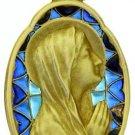 Vintage 18 K Gold Plique-à-Jour Virgin Mary Large Pendant Medal 1934 - Unique