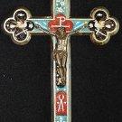 Antique micro mosaic cross - crucifix - Italian grand tour Exquisite design