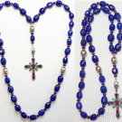 Beaded CHOTKI KOMBOSKINI Genuine Sapphire and Sterling - Unique Orthodox Rosary