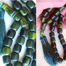 Islamic Prayer beads Tesbih Gebetskette Green Yellow marbled Sandalous