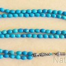 ISLAMIC PRAYER BEADS  GEBETSKETTE 99 RICE TURQUOISE & STERLING SILVER