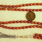 Islamic Prayer Beads Cherry Copper Color Pearls & Sterling Silver