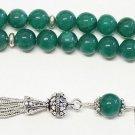 Luxury prayer Worry Beads Tesbih genuine Emeralds & Sterling - VR Collector's
