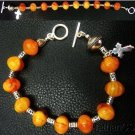 Catholic Rosary bracelet amber Galalith & Sterling Rare Material & awesome item