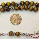 Tiger Eye & Sterling Silver Greek Komboloi Worry Beads
