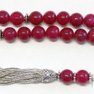 Luxury Prayer Worry Beads Tesbih Thailand Ruby and Sterling - XXR collector's