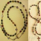 FIRST COMMUNION CATHOLIC ROSARY ROSENKRANZ BLOODSTONE AND STERLING SILVER